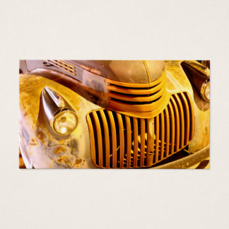 Vintage Truck Front Grill Med Business Card