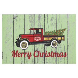 Vintage Truck Your Christmas Tree Farm Doormat