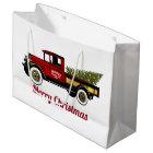 Vintage Truck Your Christmas Tree Farm Large Gift Bag