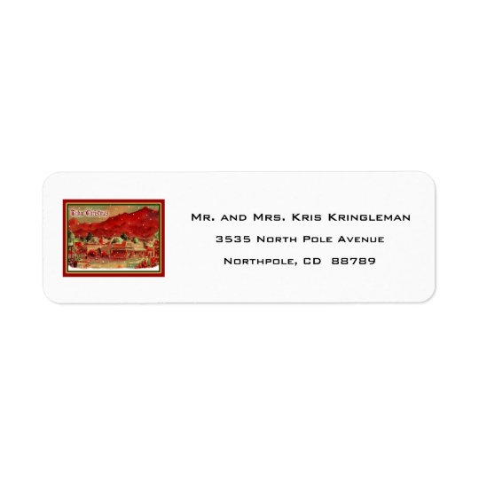 Vintage Tubac Christmas Return Address Label