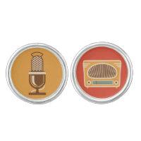 Vintage Tube Radio Collector Cufflinks