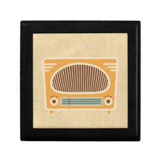 Vintage Tube Radio Collector Small Square Gift Box