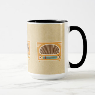Vintage Tube Radio Collector Mug