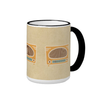 Vintage Tube Radio Collector Ringer Mug