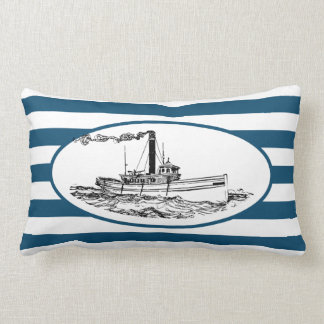 Vintage Tugboat Lumbar Cushion
