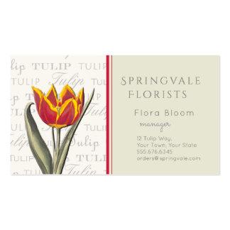 Vintage Tulip Business Card Florist Flower Shop