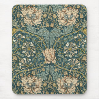 Vintage Tulips by William Morris - Mousepad