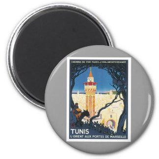 Vintage Tunis Africa 6 Cm Round Magnet