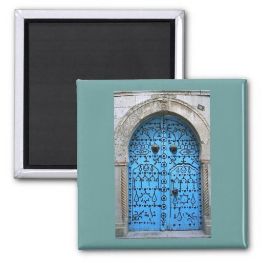 Vintage Tunisian traditional Door Fridge Magnets
