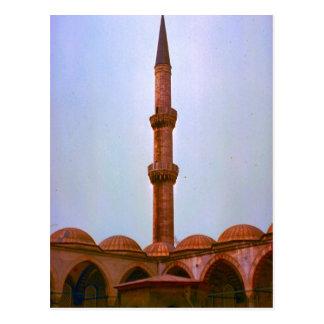 Vintage Turkey Istanbul Minaret Post Card