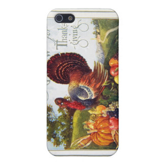 Vintage Turkey Thanksgiving Cover For iPhone 5/5S