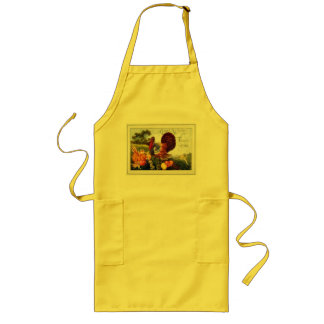 Vintage Turkey Thanksgiving Long Apron