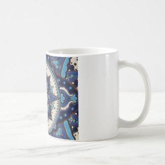 Vintage Turkish art blue and white tile design Coffee Mug