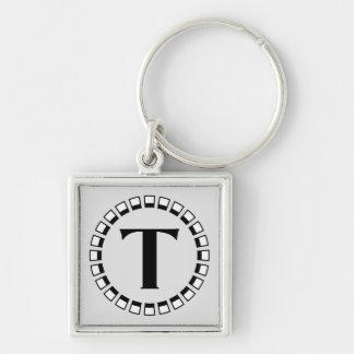 Vintage turn of the century monogram T Keychain