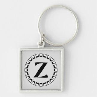 Vintage turn of the century monogram Z Keychain