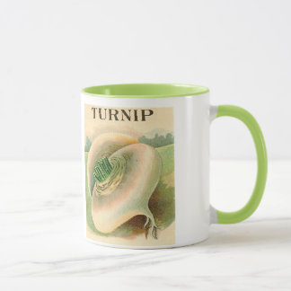 vintage turnip seed packet mug