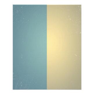 Vintage Turquoise Blue Cream ColorBlock Background Flyers
