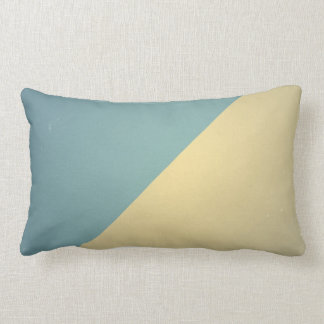 Vintage Turquoise Blue Cream ColorBlock Background Lumbar Cushion