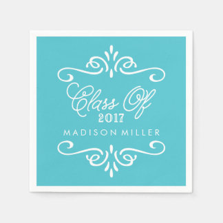 Vintage Turquoise | Graduation Napkins Disposable Serviettes