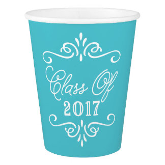 Vintage Turquoise | Graduation Paper Cup