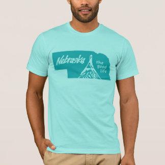 Vintage Turquoise Nebraska Logo Shirt