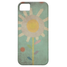 Vintage Turquoise Old One Flower Case iphone 5 - 4 iPhone 5 Case