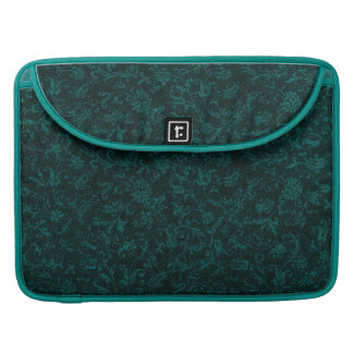 Vintage Turquoise Teal Macbook Pro Flap Sleeve MacBook Pro Sleeves