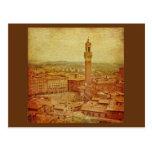 Vintage Tuscany, mediaeval Siena Postcard