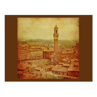 Vintage Tuscany, medieval Siena Postcards