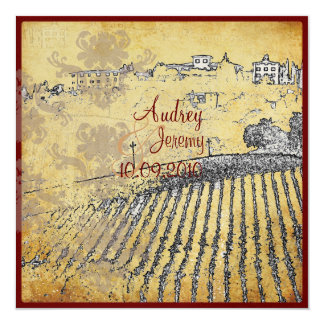Vintage, Tuscany Vinyard/wedding invitations