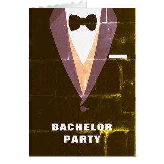 Vintage Tuxedo Bachelor Party Invitation