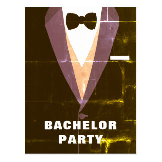 Vintage Tuxedo Bachelor Party Invitation Postcard