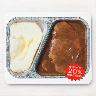 Vintage TV Dinner Salisbury Steak Now More Meat Mouse Mat