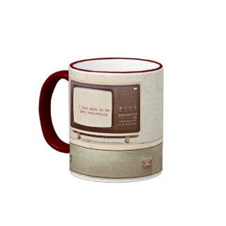 Vintage TV Star Ringer Mug