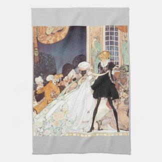 Vintage Twelve Dancing Princesses by Kay Nielsen Tea Towel