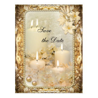 Vintage Twin Flame Save the Date Postcard