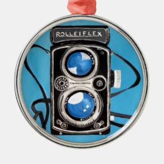 Vintage Twin Lens Camera Christmas Ornament