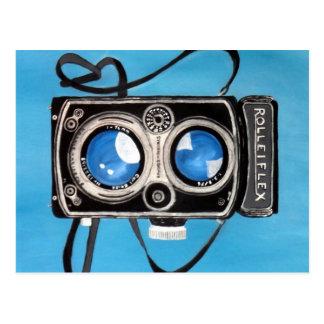Vintage Twin Lens Camera Postcard