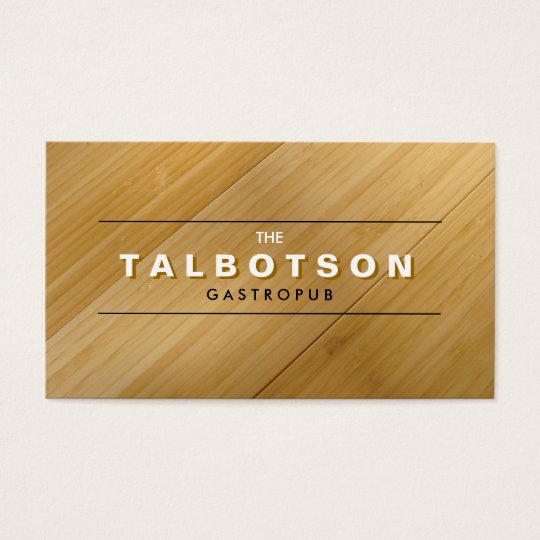 VINTAGE TYPE LOGO on BAMBOO WOOD Business Card