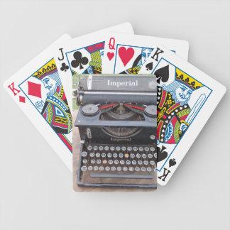 Vintage Type Writer Bicycle Playing Cards