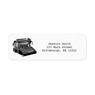 Vintage Typewriter Address Labels