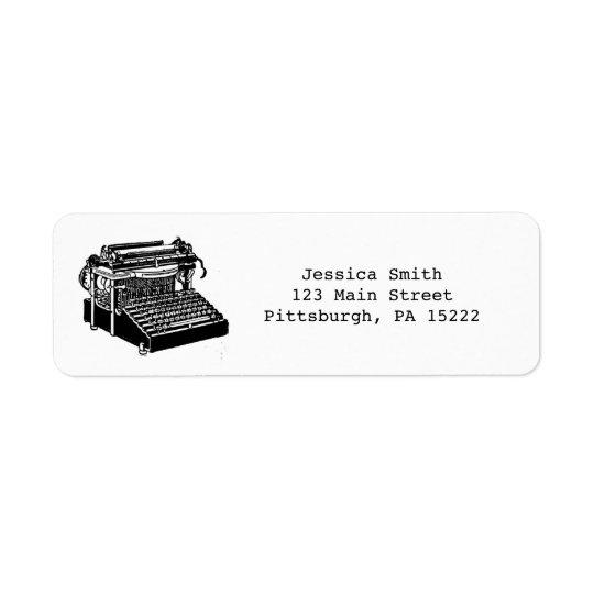 Vintage Typewriter Address Labels