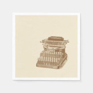 Vintage Typewriter Brown Type Writting Machine Disposable Serviettes