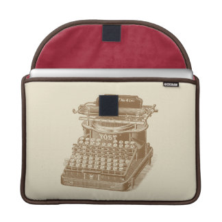 Vintage Typewriter Brown Type Writting Machine Sleeve For MacBooks