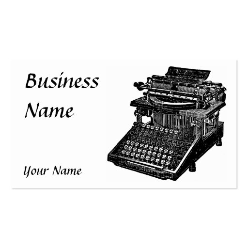 Vintage Typewriter Business Card Template