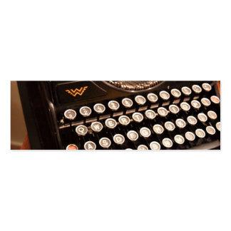 Vintage Typewriter Business Card Template