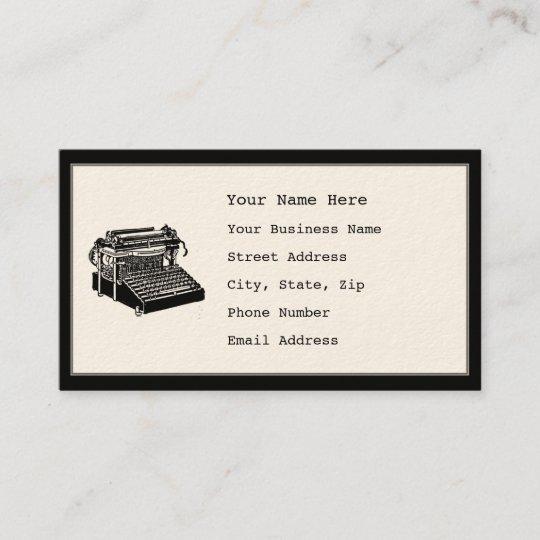 Vintage typewriter business cards zazzle vintage typewriter business cards reheart Image collections