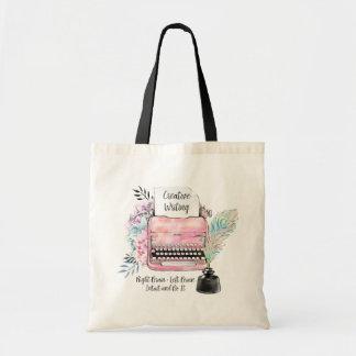 Vintage Typewriter Creative Writing Tote Bag