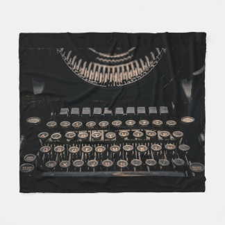 Vintage Typewriter Fleece Blanket
