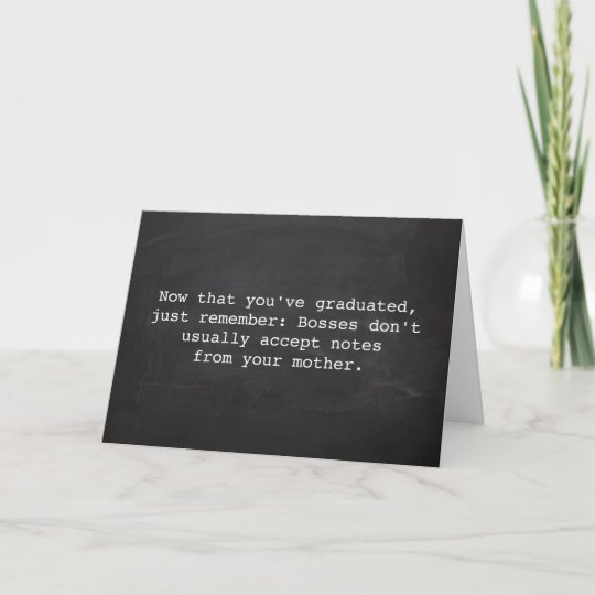 vintage typewriter funny graduation quote thank you card